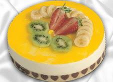 pasta gönderme 4 ile 6 kisilik yas pasta muzlu yaspasta  Kırşehir çiçek online çiçek siparişi