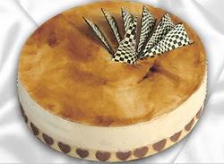 taze pasta 4 ile 6 kisilik yas pasta karamelli yaspasta  Kırşehir çiçek siparişi sitesi