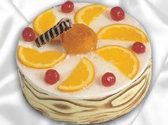 lezzetli pasta satisi 4 ile 6 kisilik yas pasta portakalli pasta  Kırşehir ucuz çiçek gönder