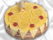 taze pastaci 4 ile 6 kisilik yas pasta limonlu yaspasta  Kırşehir internetten çiçek siparişi
