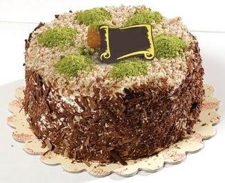pasta gönderme 4 ile 6 kisilik çikolatali yas pasta  Kırşehir çiçek gönderme