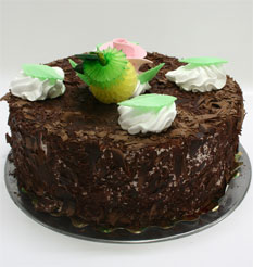 4 ile 6 kisilik yas pasta çikolatali leziz pastane ürünü  Kırşehir online çiçek gönderme sipariş