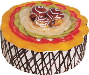 pasta siparisi 4 ile 6 kisilik meyvali yas pasta  Kırşehir çiçek gönderme