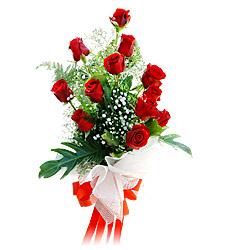 11 adet kirmizi güllerden görsel sölen buket  Kırşehir çiçekçiler