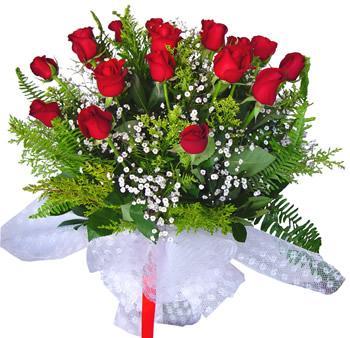 11 adet gösterisli kirmizi gül buketi  Kırşehir çiçekçi mağazası