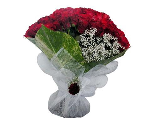 25 adet kirmizi gül görsel çiçek modeli  Kırşehir hediye sevgilime hediye çiçek