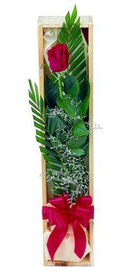 1 adet kutuda kirmizi gül  Kırşehir çiçek yolla , çiçek gönder , çiçekçi