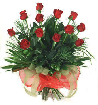 Çiçek yolla 12 adet kirmizi gül buketi  Kırşehir çiçek mağazası , çiçekçi adresleri