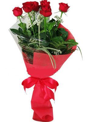 7 adet kirmizi gül buketi  Kırşehir yurtiçi ve yurtdışı çiçek siparişi