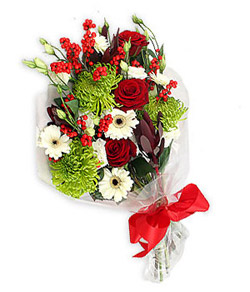 Karisik mevsim buketi çiçek tanzimi  Kırşehir internetten çiçek satışı