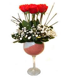 Kırşehir çiçek siparişi sitesi  cam kadeh içinde 7 adet kirmizi gül çiçek