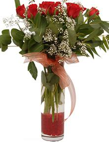 Kırşehir cicek , cicekci  11 adet kirmizi gül vazo çiçegi
