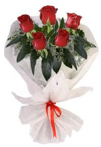 5 adet kirmizi gül buketi  Kırşehir çiçek siparişi sitesi