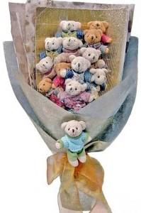 12 adet ayiciktan buket tanzimi  Kırşehir çiçek siparişi vermek