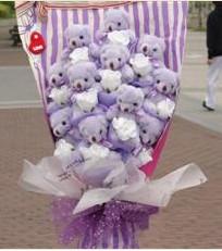 11 adet pelus ayicik buketi  Kırşehir çiçek yolla , çiçek gönder , çiçekçi