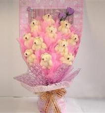 11 adet pelus ayicik buketi  Kırşehir İnternetten çiçek siparişi