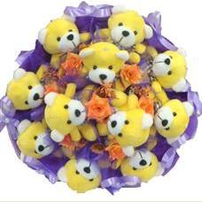 11 adet pelus ayicik buketi  Kırşehir çiçek online çiçek siparişi
