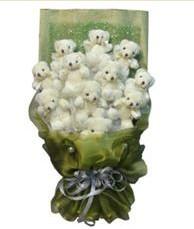 11 adet pelus ayicik buketi  Kırşehir internetten çiçek siparişi