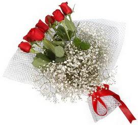 7 adet essiz kalitede kirmizi gül buketi  Kırşehir 14 şubat sevgililer günü çiçek
