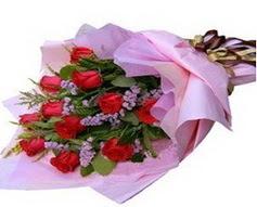 11 adet kirmizi güllerden görsel buket  Kırşehir çiçek yolla , çiçek gönder , çiçekçi