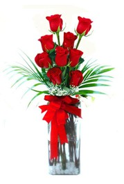 Kırşehir çiçek yolla  9 adet mika yada cam vazoda gül tanzimi