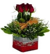 Kırşehir çiçek gönderme sitemiz güvenlidir  7 adet mika yada cam vazoda gül tanzimi