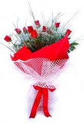 Kırşehir online çiçekçi , çiçek siparişi  9 adet kirmizi gül buketi demeti