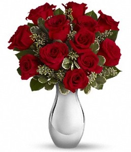 Kırşehir çiçekçiler   vazo içerisinde 11 adet kırmızı gül tanzimi