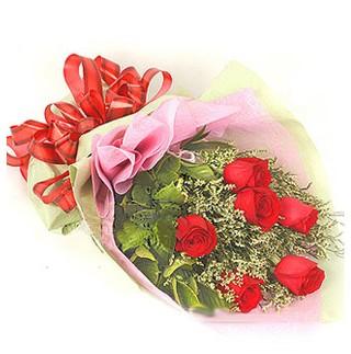 Kırşehir çiçekçi telefonları  6 adet kırmızı gülden buket