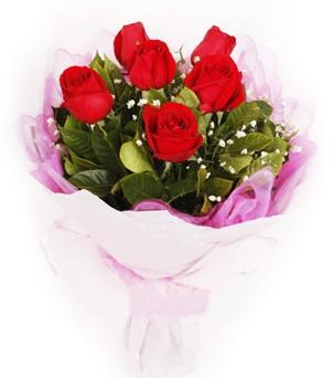Kırşehir 14 şubat sevgililer günü çiçek  kırmızı 6 adet gülden buket