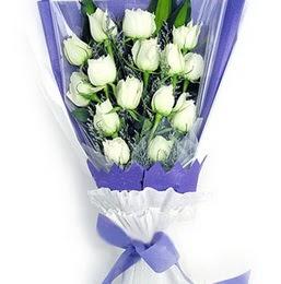 Kırşehir ucuz çiçek gönder  11 adet beyaz gül buket modeli