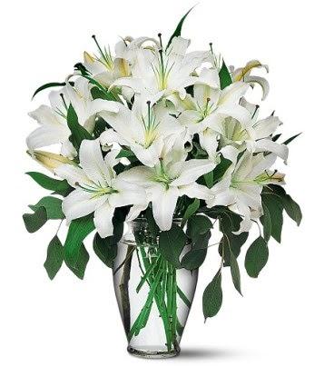 Kırşehir çiçekçi mağazası  4 dal kazablanka ile görsel vazo tanzimi