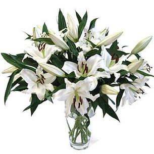 Kırşehir çiçek yolla  3 dal görsel casablanca vazo tanzimi