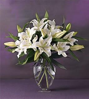 Kırşehir online çiçekçi , çiçek siparişi  4 dal cazablanca vazo çiçeği