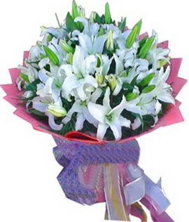7 dal cazablanca görsel buketi  Kırşehir ucuz çiçek gönder