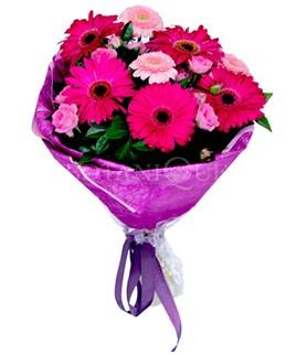 Kırşehir hediye çiçek yolla  karışık gerbera çiçeği buketi