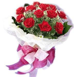 Kırşehir çiçek gönderme  11 adet kırmızı güllerden buket modeli