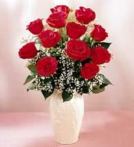Kırşehir ucuz çiçek gönder  9 adet vazoda özel tanzim kirmizi gül