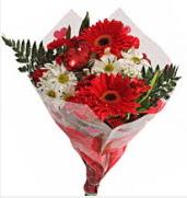 Mevsim çiçeklerinden görsel buket  Kırşehir çiçek siparişi sitesi