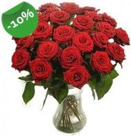Vazo içerisinde 25 adet kırmızı gül  Kırşehir çiçek siparişi vermek