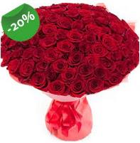 Özel mi Özel buket 101 adet kırmızı gül  Kırşehir uluslararası çiçek gönderme