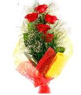 5 li kırmızı gül buketi  Kırşehir çiçekçi mağazası