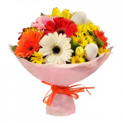 Karışık mevsim buketi Mevsimsel çiçek  Kırşehir internetten çiçek satışı