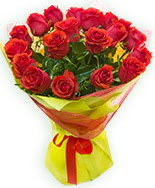19 Adet kırmızı gül buketi  Kırşehir çiçekçiler