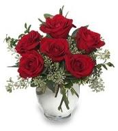 Vazo içerisinde 5 adet kırmızı gül  Kırşehir ucuz çiçek gönder
