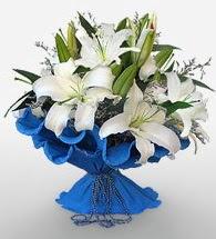 4 dal kazablanka çiçeğinden buket  Kırşehir çiçek siparişi vermek