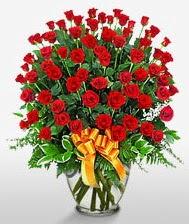 Görsel vazo içerisinde 101 adet gül  Kırşehir çiçek siparişi vermek