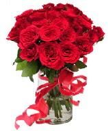 21 adet vazo içerisinde kırmızı gül  Kırşehir çiçek gönderme