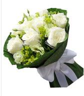 9 adet beyaz gül buketi  Kırşehir hediye çiçek yolla