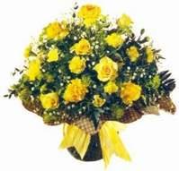 Kırşehir çiçekçi telefonları  Sari gül karanfil ve kir çiçekleri